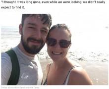 【海外発!Breaking News】ビーチで紛失した手作りの結婚指輪、偶然にも結婚記念日に夫婦のもとに戻る(スコットランド)