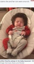 【海外発!Breaking News】「かつらなの?」外出すると質問攻め! ボリューミーな髪を持つ生後9か月の男児(英)