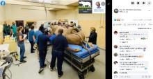 【海外発!Breaking News】1トンのシロサイ、顔の異常な腫れでCTスキャン検査受ける(南ア)