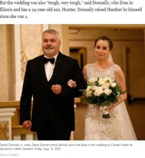 【海外発!Breaking News】結婚式直前に亡くなった女性から臓器提供を受けた花嫁、ドナーの父が結婚式のエスコートで感涙(米)<動画あり>