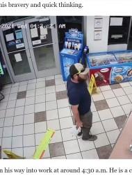 【海外発!Breaking News】コンビニ強盗を客の元海兵隊員が一瞬で捕獲 「無駄な行動を取らないと教わった」(米)<動画あり>