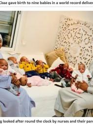 【海外発!Breaking News】モロッコで誕生した9つ子、全員が揃った写真初公開「マリへの帰国ももうすぐ」と両親