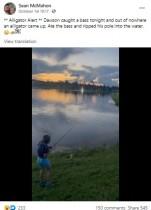 【海外発!Breaking News】男児が釣った魚をワニが竿ごと横取り 父親が動画撮影も「危険すぎる」の声(米)<動画あり>