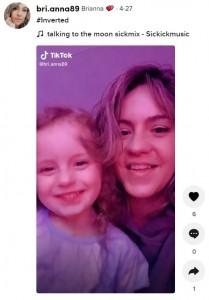ゲームをしていたという娘とブリアナさん(画像は『Brianna 2021年4月27日付「#Inverted」』のスクリーンショット)