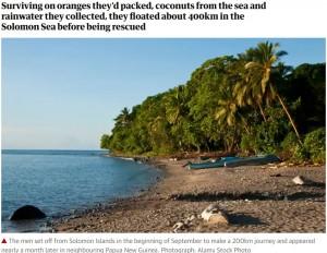 【海外発!Breaking News】海で遭難し1か月漂流した男性「コロナのこと聞かずいい息抜きになった」(ソロモン諸島)
