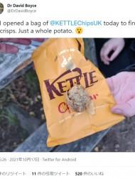【海外発!Breaking News】ポテチの袋を開けてビックリ 未加工のジャガイモ1個に「DIYポテトチップス」の声(英)