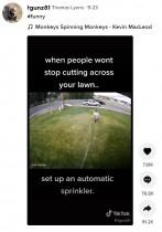 【海外発!Breaking News】私有地の芝生を勝手に横切る人々 スプリンクラーで制裁を加える家主の対策が話題(米)<動画あり>