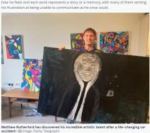 【海外発!Breaking News】事故に遭い失語症になった男性、絵の才能が開花し「まるでピカソのよう」(英)
