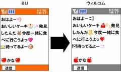 NTTドコモ、KDDIなどウィルコムとの絵文字互換サービスを開始。