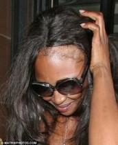 【イタすぎるセレブ達】ショック!ナオミ・キャンベルの前髪はココまでハゲていた!