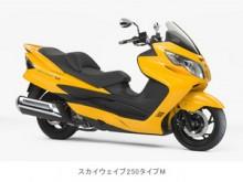 スズキのビッグスクーター「スカイウェイブ250タイプM」を一部改良し発売